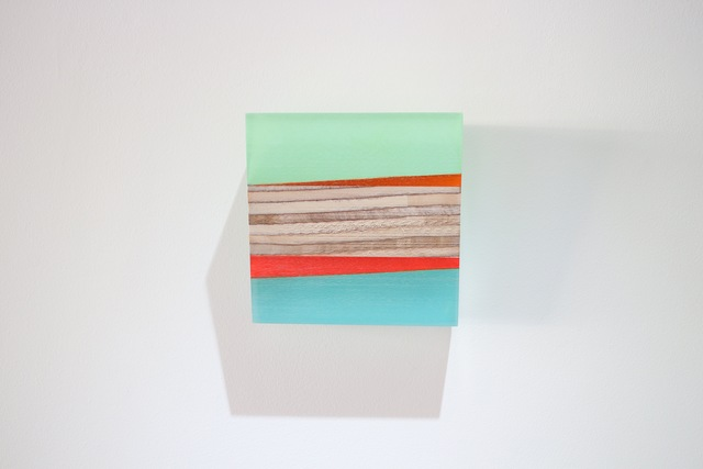Michelle Benoit, 'Orange Under', 2018, Sculpture, Mixed media on hand cut reclaimed lucite and appleply, bo.lee gallery