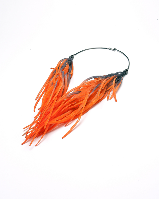 , 'Roots - Orange - Necklace,' 2018, Yun Gee Park Gallery