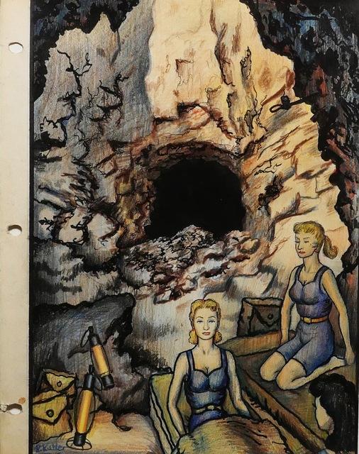 Renaldo Kuhler, 'Arlene Dalherson & Lisa Smörgesholm Camping in Abandoned Mine', 1960, Ricco/Maresca Gallery