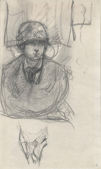Édouard Vuillard, 'Woman in a Cloche Hat (Femme au chapeau cloche)', ca. 1920, Drawing, Collage or other Work on Paper, Pencil on paper, Jill Newhouse Gallery