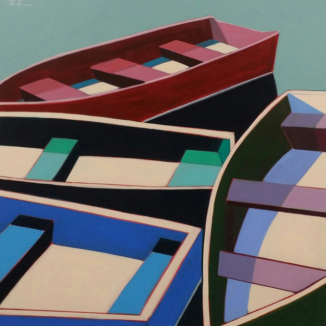 , 'Summer Abstract Boats,' 2017, Caldwell Snyder Gallery