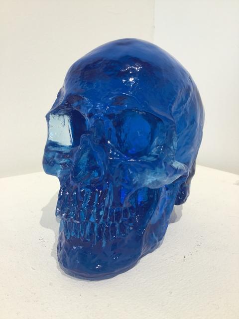 Sam Tufnell, 'Sam Tufnell, Midnight Blue Skull ', 2018, Sculpture, Resin, Oliver Cole Gallery