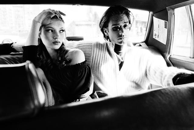 Stephanie Pfriender Stylander, 'Kate Moss and Marcus Schenkenberg (Cool), Harper's Bazaar Uomo, New York', 1992, Photography, Archival Pigment Print, Staley-Wise Gallery