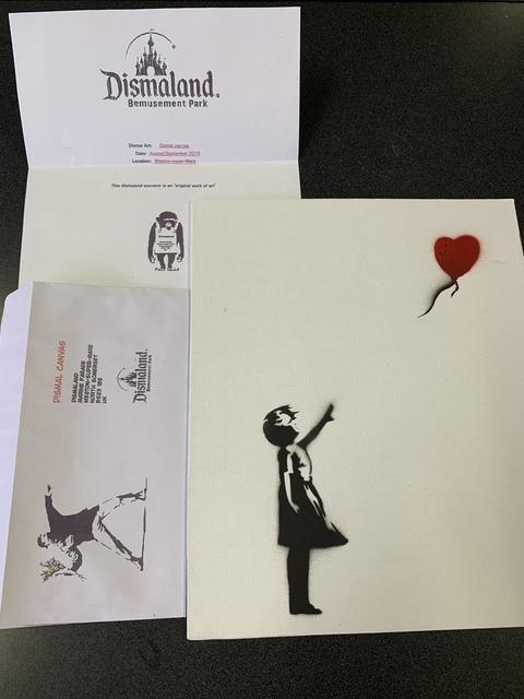 "Banksy, 'BANKSY DISMALAND ""BALLOON GIRL"" WITH COA', 2015, Arts Limited"