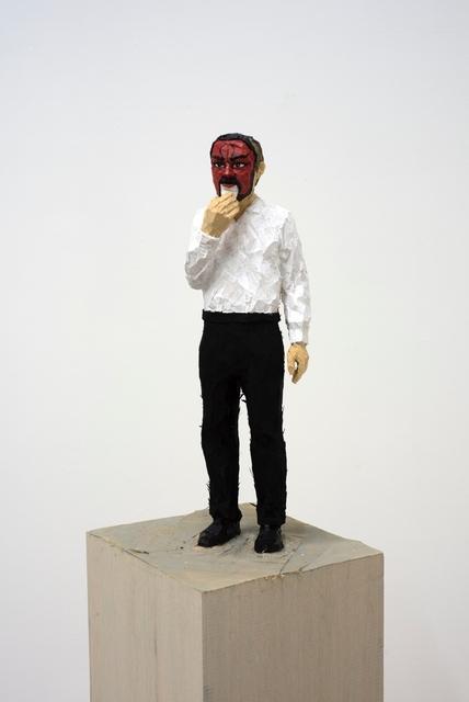 , 'Mann mit Maske,' 2017, Galerie Rüdiger Schöttle