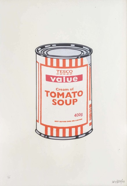 Banksy, 'Soup Can (White, Orange, Raspberry) - Signed', 2005, Hang-Up Gallery
