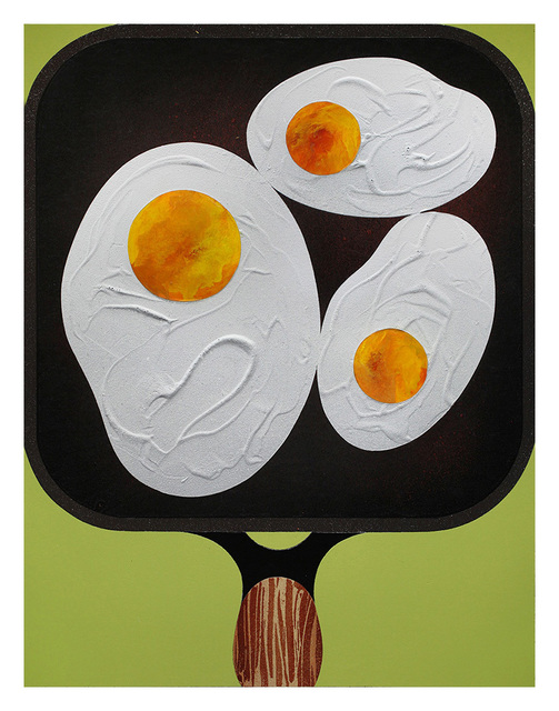 , 'Three Fried Eggs,' 2017, Hashimoto Contemporary