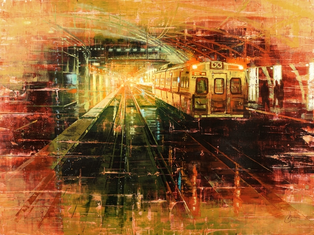 Christopher Clark, 'Denver - Tracks of Union Station', 2018, Abend Gallery