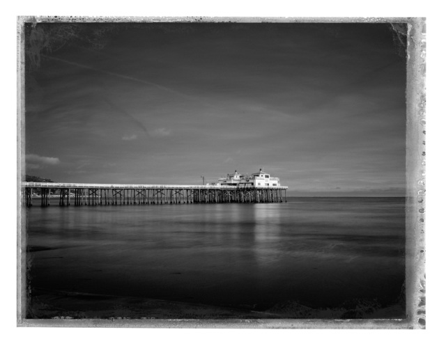 Christopher Thomas, 'Malibu Pier', 2017, Photography, Pigment print on Aquarelle Arches paper, Galerie XII