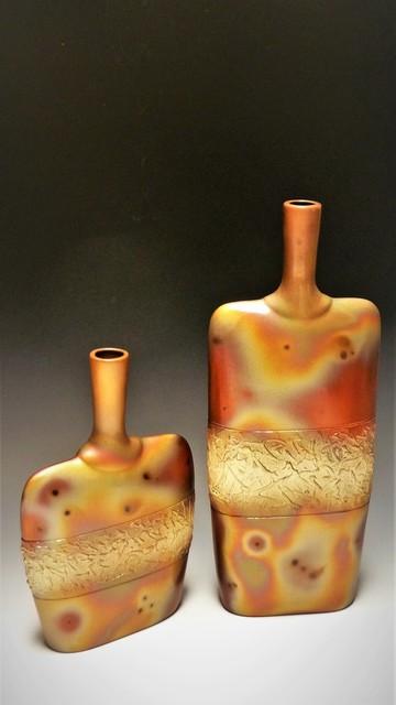 , 'Textured Bottles,' 2018, Springfield Art Association