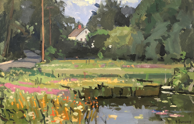 , 'House and Pond, Wellfleet,' 2018, William Baczek Fine Arts