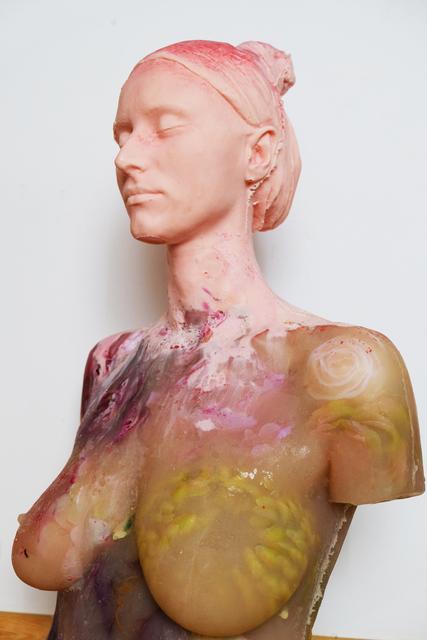 Maria Kulikovska, '880', 2019, Sculpture, Ballistic soap, flowers., Port agency