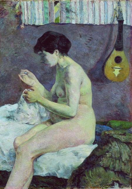 , 'Woman Sewing,' 1880, de Young Museum