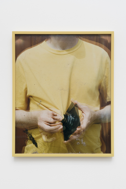 , 'Lens Cleaning Rodenstock Apo-Sironar 5.6/135MM; James Perse Medallion Crewneck Jersey T-shirt,' 2017, CHOI&LAGER
