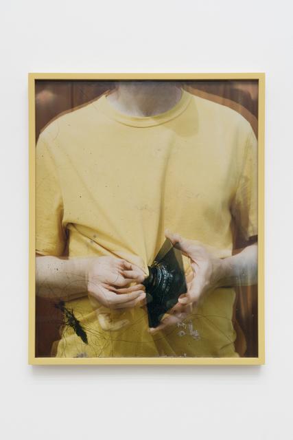 Scott McFarland, 'Lens Cleaning Rodenstock Apo-Sironar 5.6/135MM; James Perse Medallion Crewneck Jersey T-shirt', 2017, CHOI&LAGER