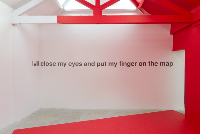, 'I will put my finger on the map...,' 2016, narrative projects