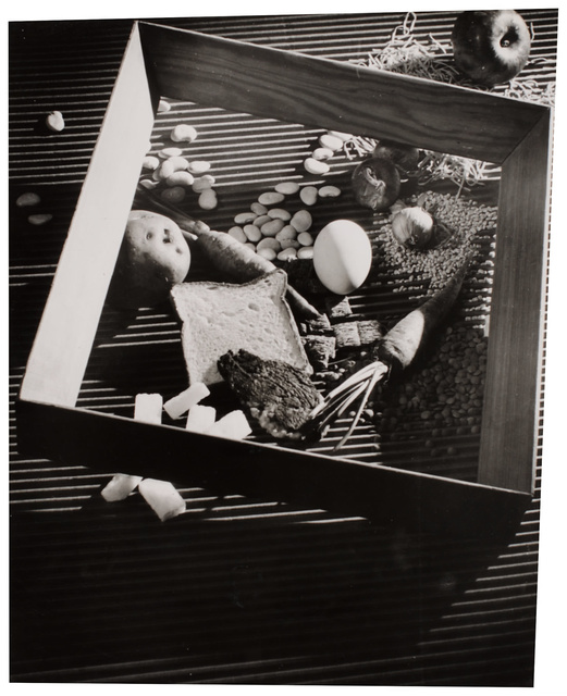 , 'Untitled (Vegetables, egg, apple, bread, grains, frame),' 1940, Robert Koch Gallery
