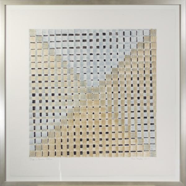 , 'Blue & Brown Pattern,' 2017, David Barnett Gallery