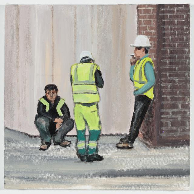 , 'Three Men on a smoke break, Savile Row,' 2018, P.P.O.W