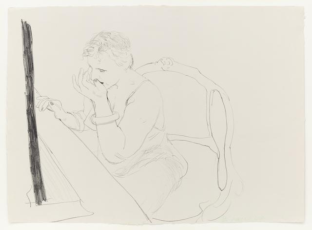 David Hockney, 'Celia - Adjusting her Eyelash', 1979, Mary Ryan Gallery, Inc