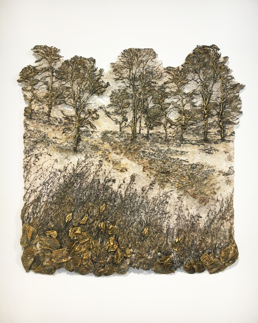 Lesley Richmond, 'Journey', 2019, Textile Arts, Cotton / silk fabric, heat reactive base, acrylic paint, kozo fiber, Duane Reed Gallery