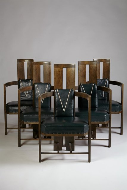 , 'Set of dining chairs for Keirkner residence, Helsinki,' 1907, Modernity