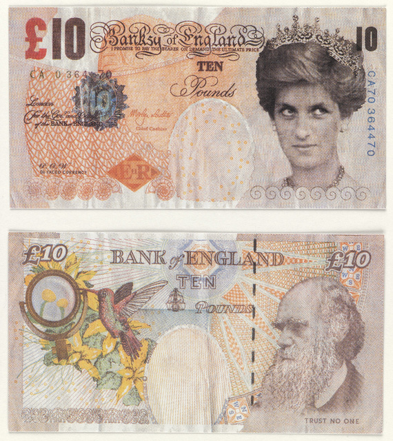 Banksy, '10 Pound Bank Note.', 2004, Swann Auction Galleries
