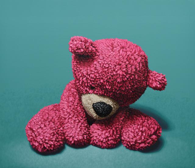 ", '""Pink Bear Sitting"",' 2017, Mugello Gallery"