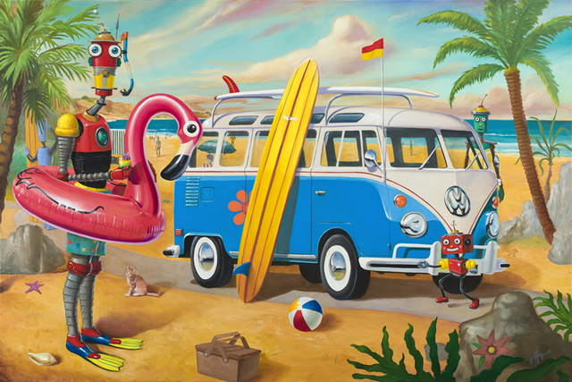 , 'Beach Day,' 2019, Bruce Lurie Gallery