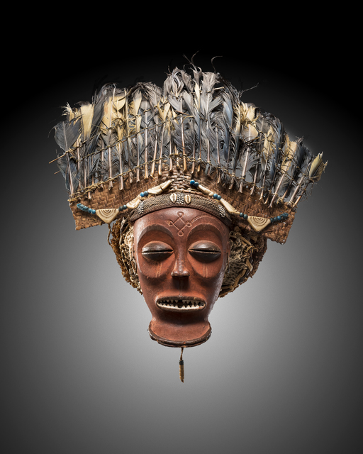 , 'Cihongo mask with feather headdress,' 1850-1900, Galerie Bernard Dulon