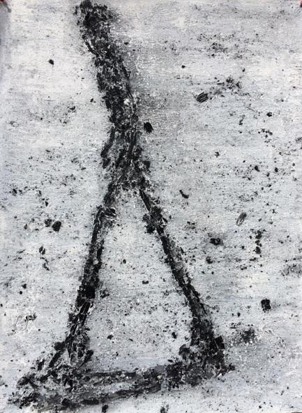 , 'L'homme qui marche 2 (Citation A. Giacometti),' 2018, ONIRIS - Florent Paumelle