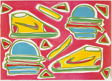Katherine Bernhardt, 'Cheeseburger Deluxe,' 2016, Phillips: Evening and Day Editions