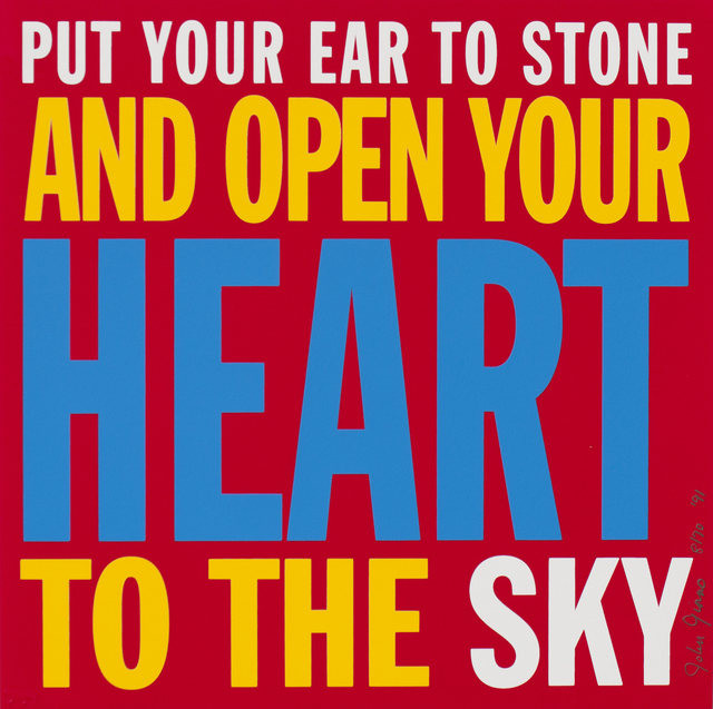 , 'Poem Prints: Put Your Ear to the Stone and Open Your Heart,' 1991, Durham Press, Inc.
