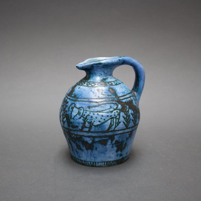 , 'Blue Ceramic Jug,' 1950-1959, Bureau of Interior Affairs