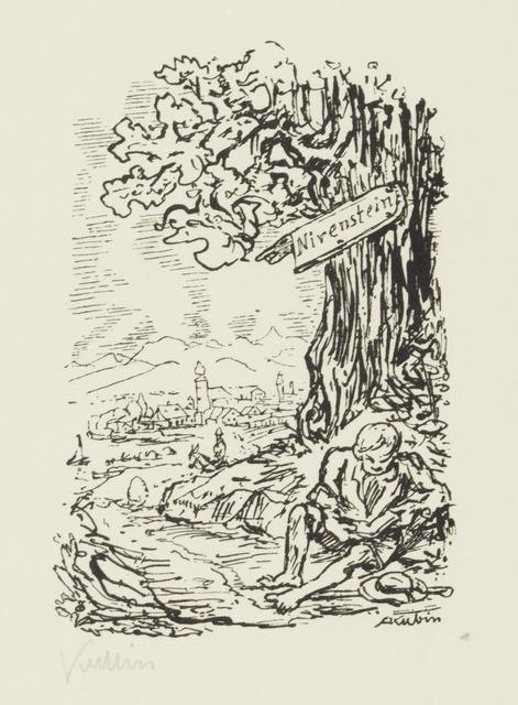 , 'Ex Libris for Otto Nirenstein (Kallir),' 1927, Galerie St. Etienne