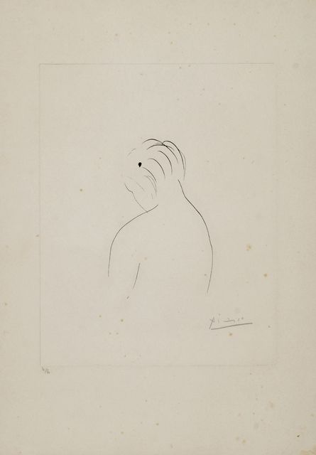 Pablo Picasso, 'Nude Back', 1943, Print, Etching on Arches wove, Roseberys