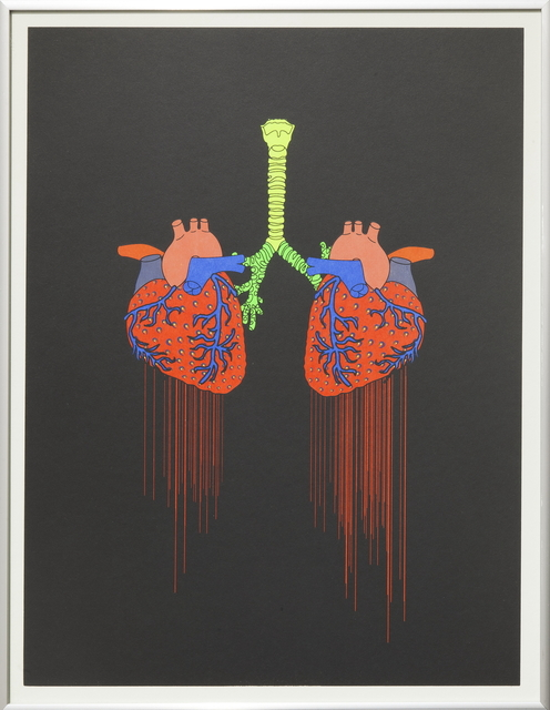 , 'Strawberry heart 草莓心脏,' 2014, Rén Space