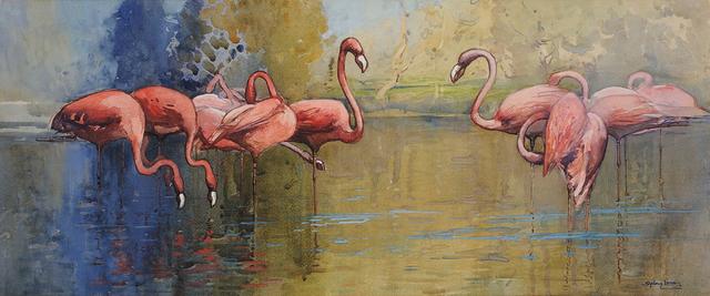 Sydney Long, 'Flamingo Pool', 1915, Charles Nodrum Gallery