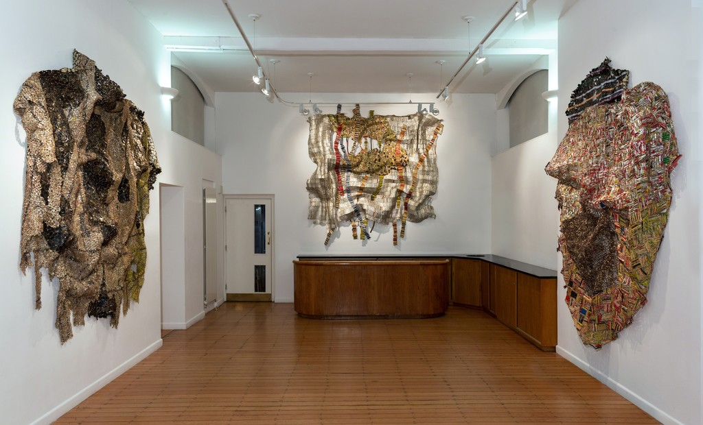 El Anatsui Solo exhibition at October Gallery, London, 2015.