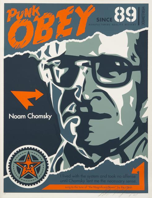 Shepard Fairey (OBEY), 'Noam Chomsky', 2001, Julien's Auctions