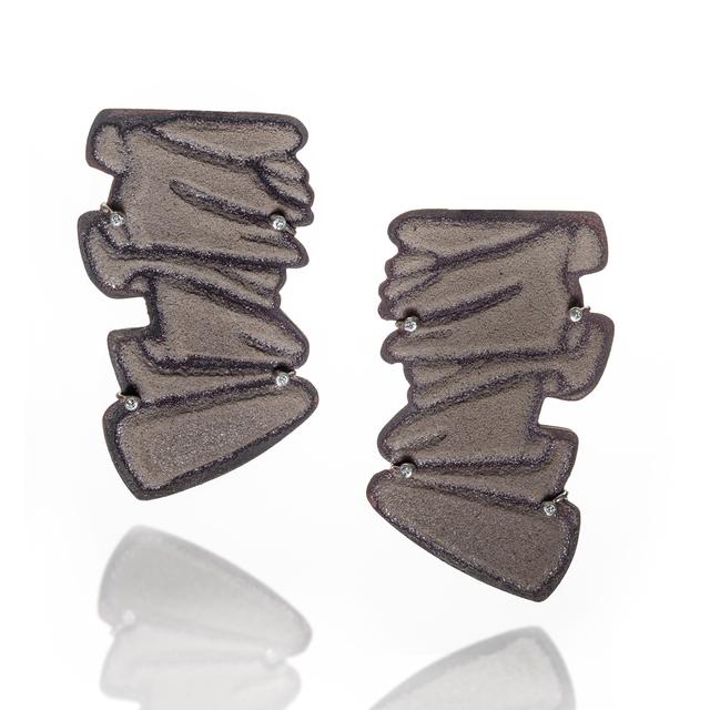 , 'Pleated II Earrings,' 2018, Mobilia Gallery