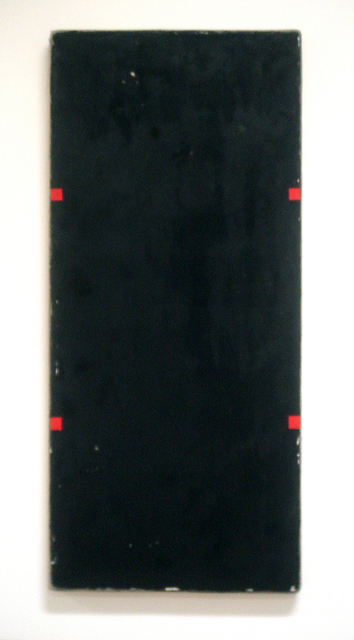, 'Black Rectangle with Four Red Rectangles,' 2011, William Campbell Contemporary Art, Inc.