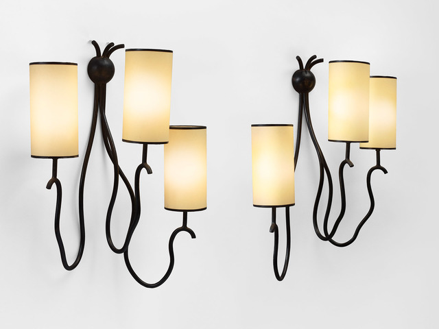 ", 'pair of ""liane"" wall lights,' ca. 1964, Galerie Jacques Lacoste"