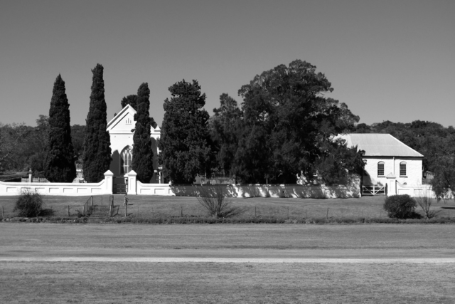 Cedric Nunn, 'Salem Anglican church and cricket pitch', 2013, Photography, B/w handprint, silver-toned, Galerie Seippel