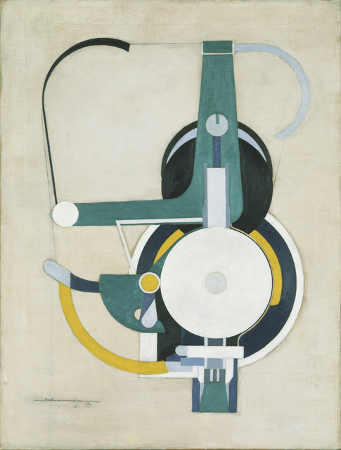 , 'Painting (Formerly Machine),' 1916, de Young Museum