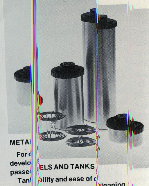 , 'Metals and Tanks (Darkroom Manuals),' 2013, Cooper Cole Gallery