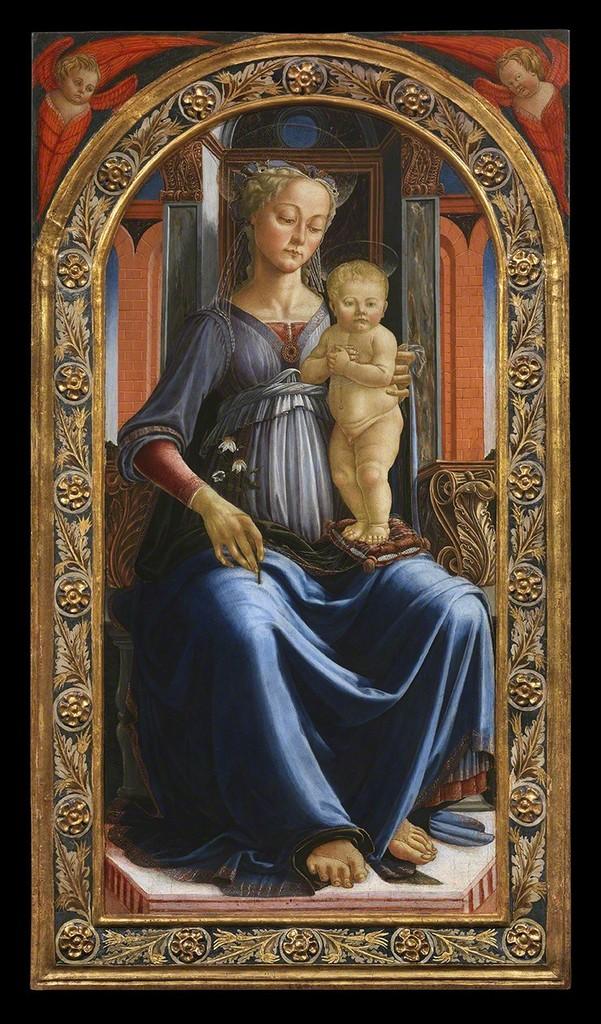 Virgin and Child Andrea del Verrocchio ca. 1465 Tempera on panel