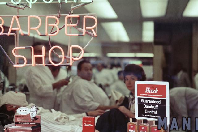 Mario Carnicelli, 'Barber shop neon, Chicago', 1966, David Hill Gallery