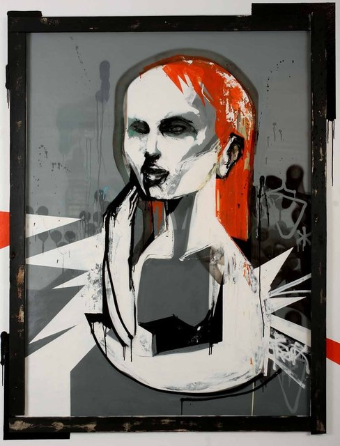 Titi Freak, 'I Believe You', 2008, Painting, Spray Paint on Canvas, Jonathan LeVine Projects