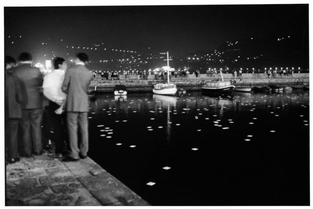 , 'Dadamaino, Illuminazione fosforescente automotoria sull'acqua. Como,' 1969, Lia Rumma